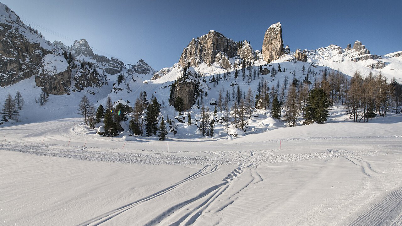 Ski slopes in Arabba