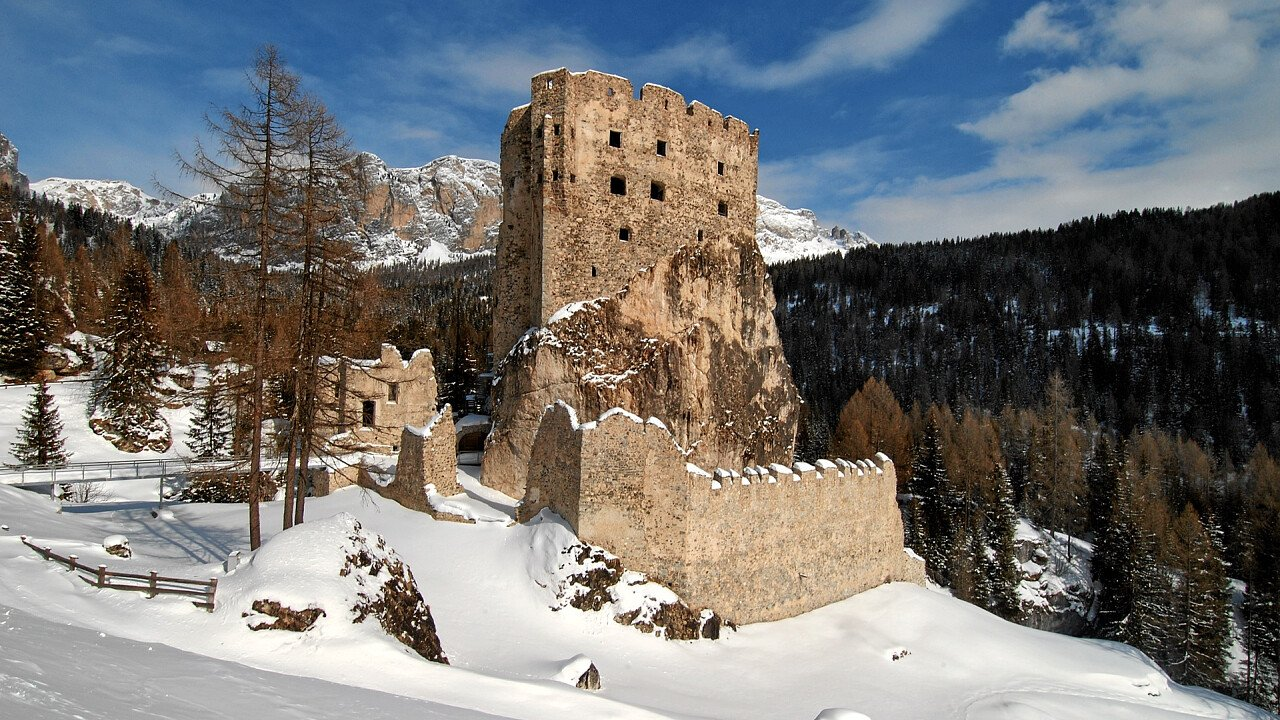 Burg Andraz in Winter