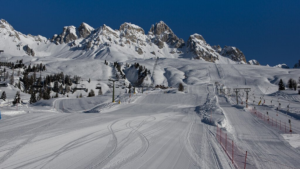 San Pellegrino Pass: sunny ski runs and historical trails - cover