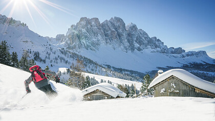 Schneeschuhwandern in Villnösser Tal