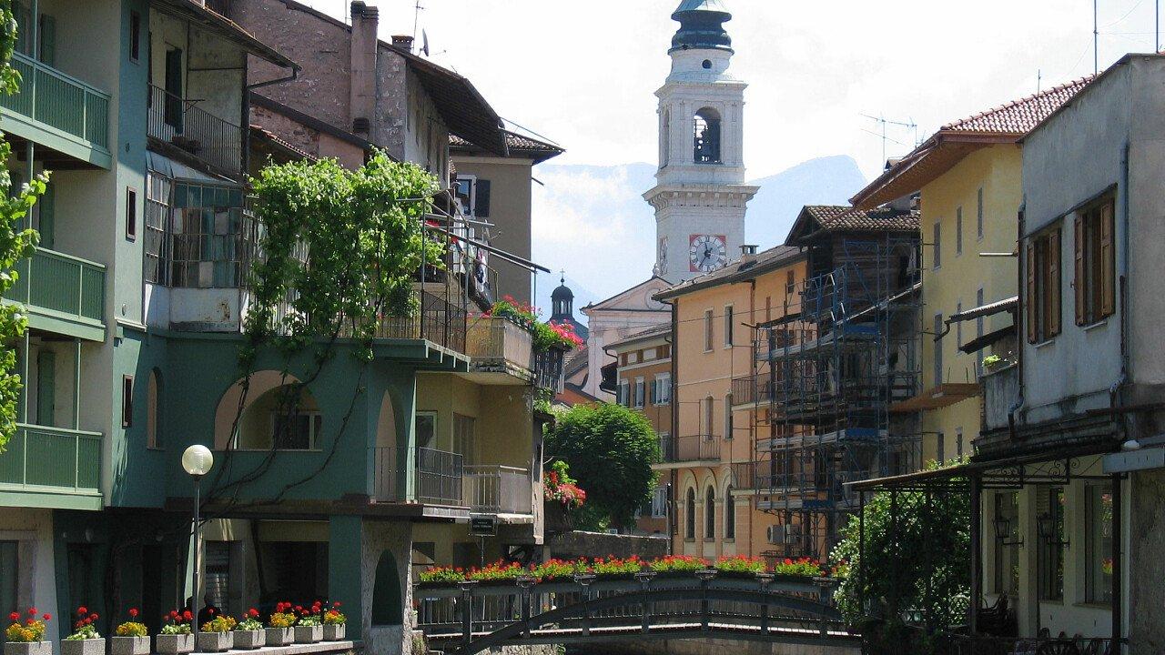 Il centro storico di Borgo Valsugana in Trentino
