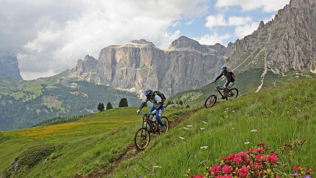 Dolomiti trentine: avventurose e panoramiche discese in MTB