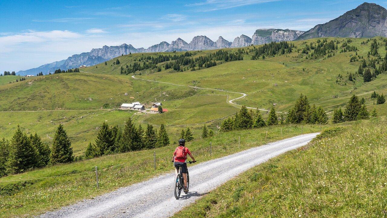 E-bike in the Dolomites