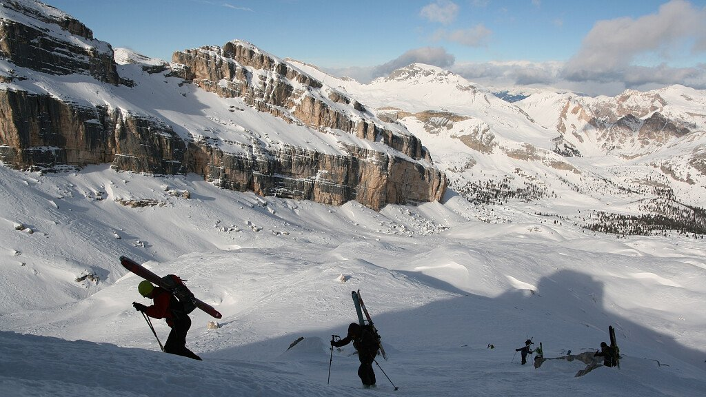 The Dolomites and the ski mountaineering - cover