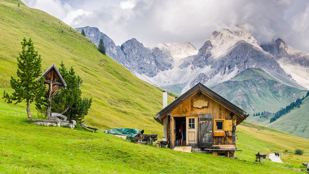 Holidays in the Dolomites between modern and ancient architecture - cover