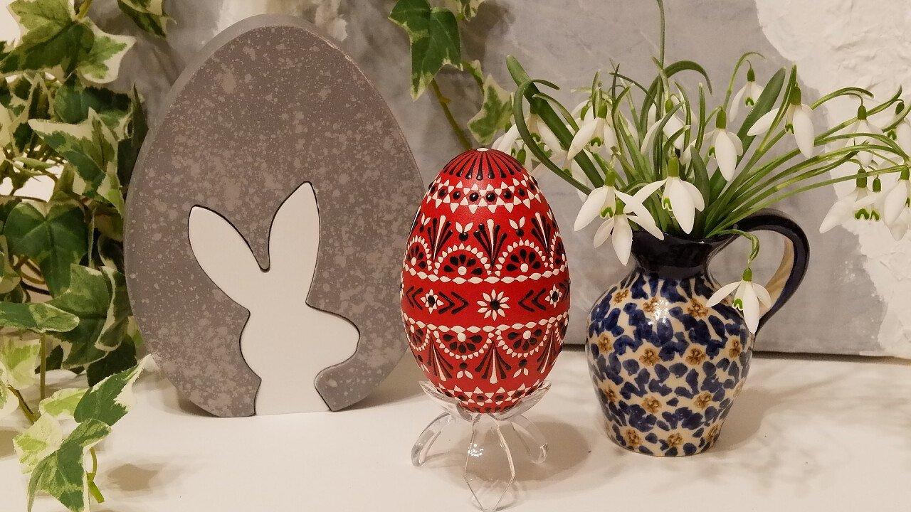 Uovo decorato Pasqua
