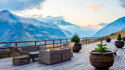 Outdoor terrace with panoramic view