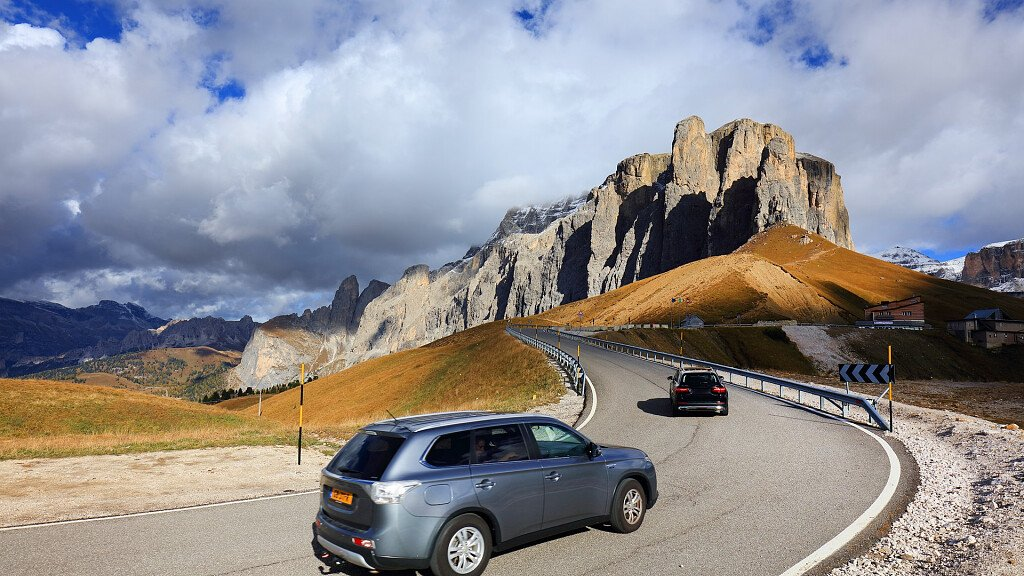Panoramic tour by car in the Dolomites - cover