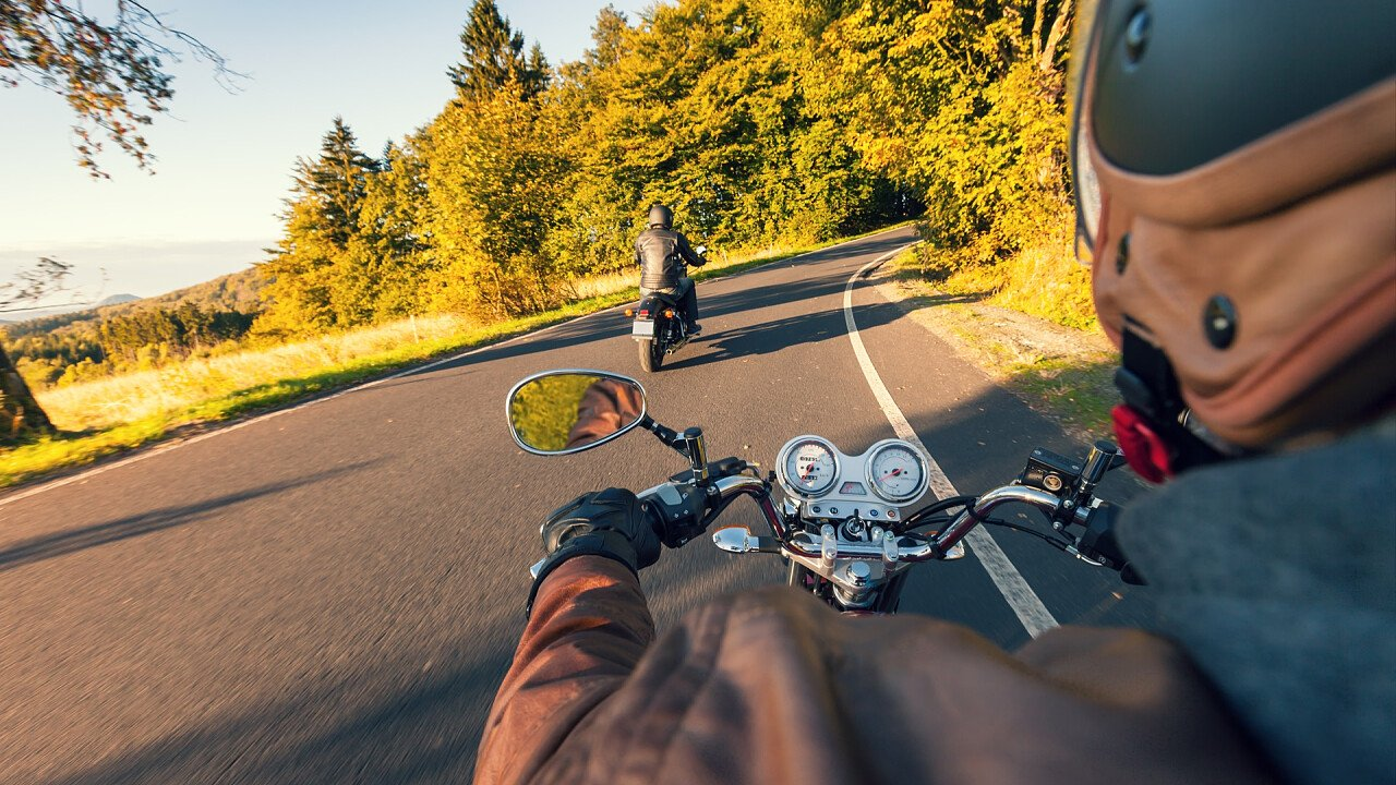 Summer motorcycling in the Dolomites