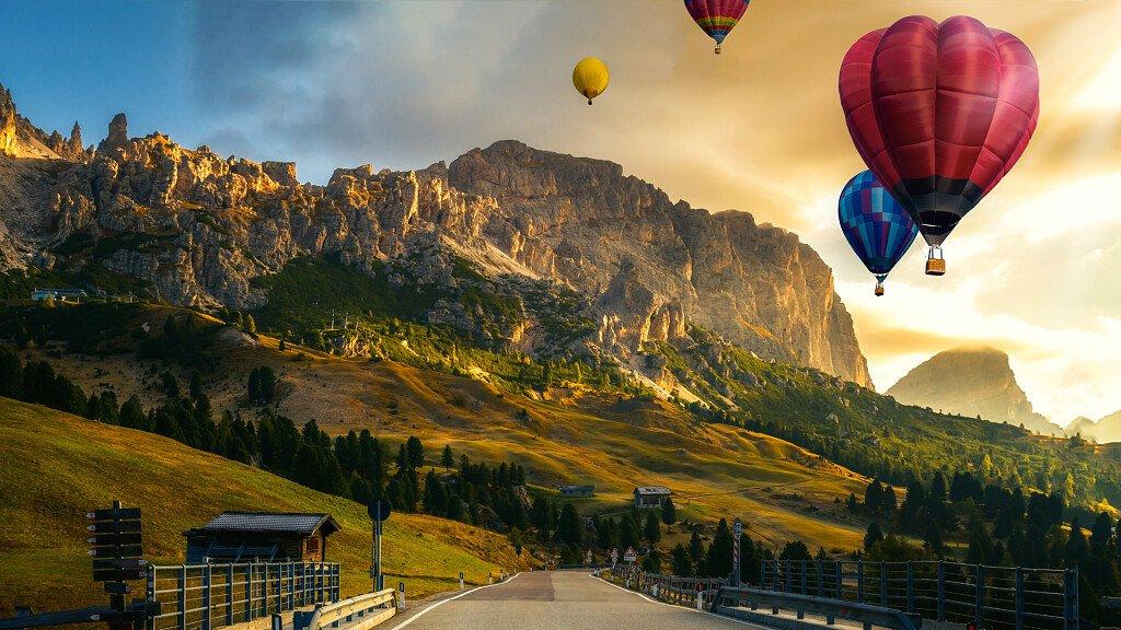 Tournee durch die Dolomiten im Heißluftballon - cover