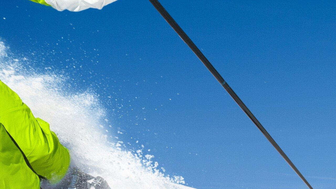Sciatore in Val di Non